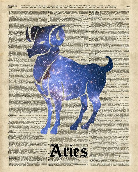 Duvet Dictionary Aries Ram Zodiac Sign Digital Art By Jacob Kuch