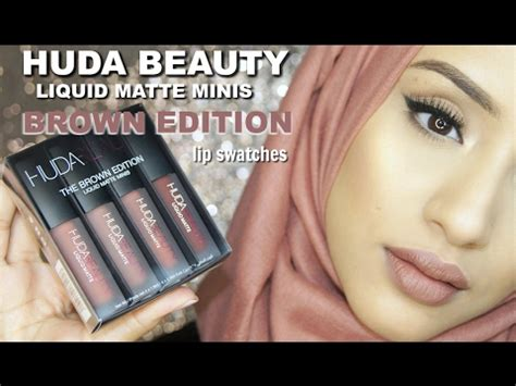 swatches huda brown edition liquid matte lipstick