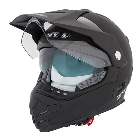 motocross helmet with visor spada intrepid plain enduro road motocross motorcycle