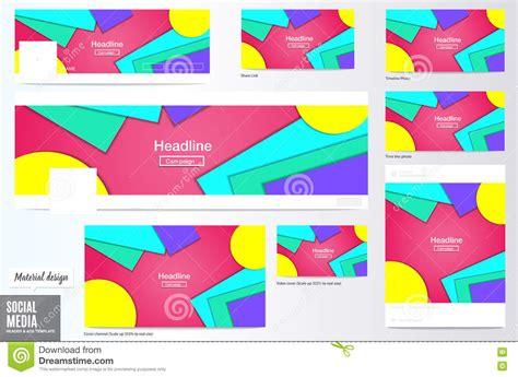 design header social media cover mate flyers royalty free illustration