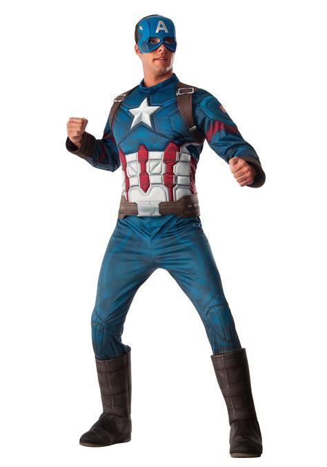Costum Captain America deluxe captain america costume for