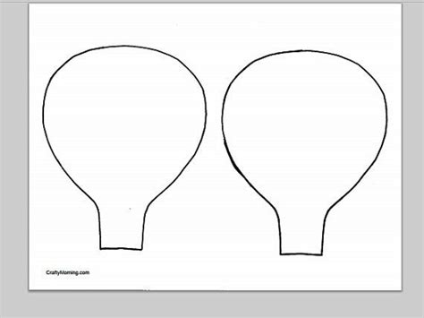 3d Spinning Hot Air Balloon Craft Template Balloon Crafts Hot Air Balloons And Air Balloon Air Balloon Mobile Template