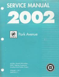 car repair manuals online pdf 2000 buick park avenue security system 2002 buick park avenue factory service manual 2 volume set
