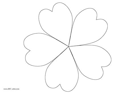 flower template 5 petals 5 petal flower templates clipart best