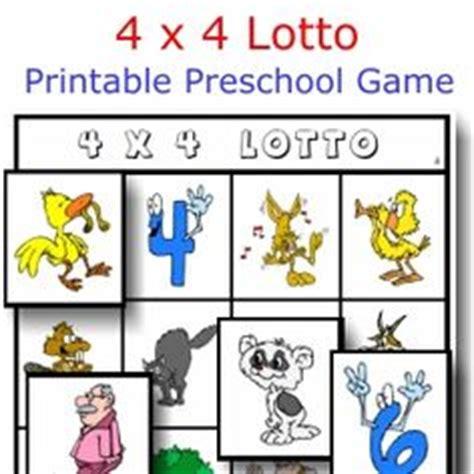 printable lottery numbers free printable preschool or kindergarten game 4 x 4 lotto