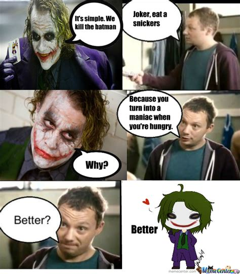 eat a snickers meme joker eat a snickers by halloweenqueen meme center