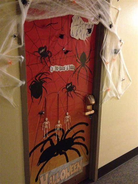 halloween dorm decorations dorm room doors halloween