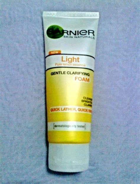 Krim Muka Garnier kecantikan diri dan asas mekap light gentle clarifying foam