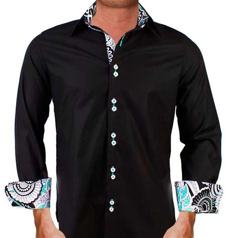 design dress shirts mens black designer dress shirts