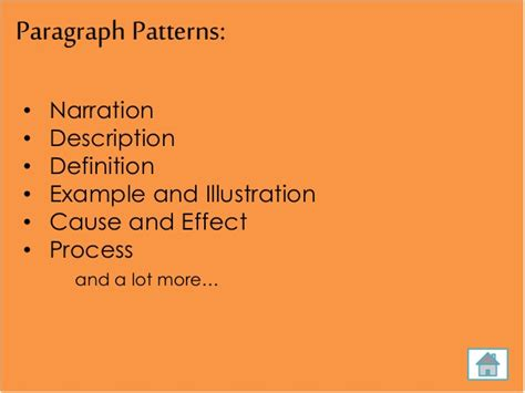 definition pattern paragraph steps in writing a paragraph