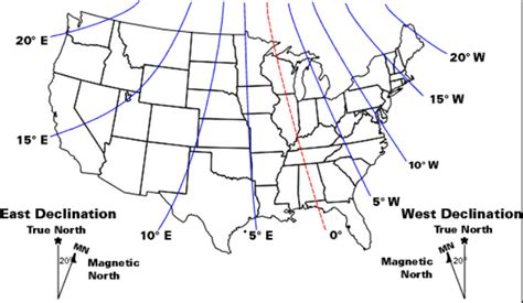 magnetic declination map magnetic archives just trailsjust trails