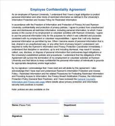 Employee Confidentiality Agreement Template Free confidentiality agreement template 7 download free