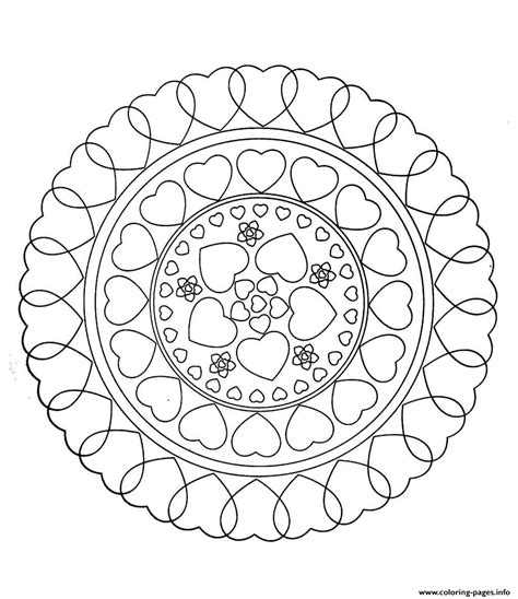 mandala coloring pages hearts free mandala to color hearts coloring pages printable