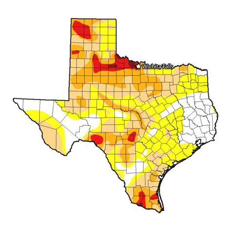 drought map of texas drought in wichita falls nothing of a disaster the texas observer