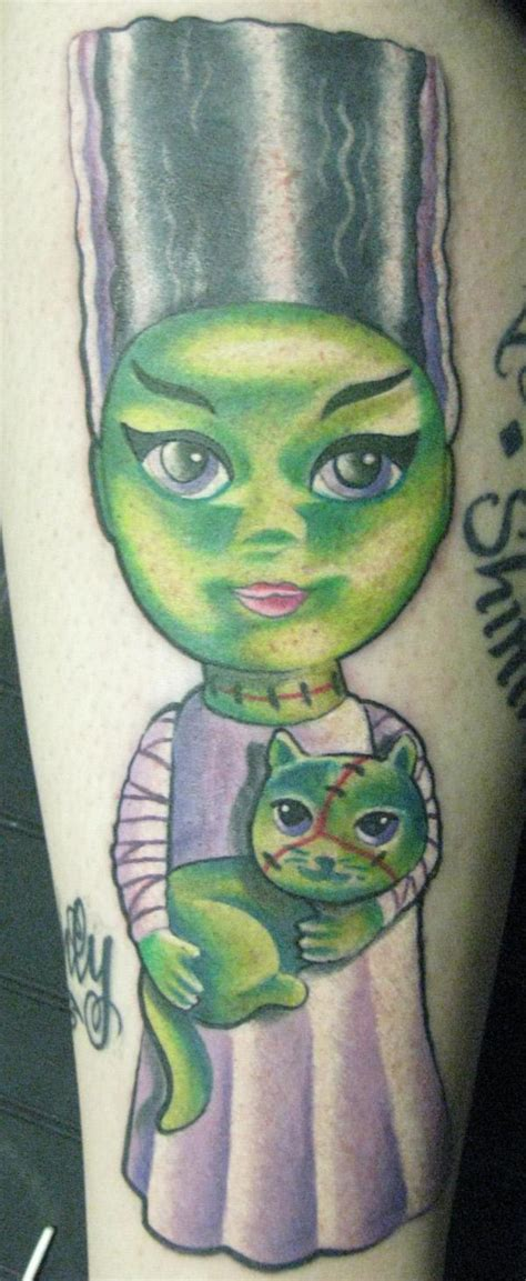 new school frankenstein tattoo large image leave comment