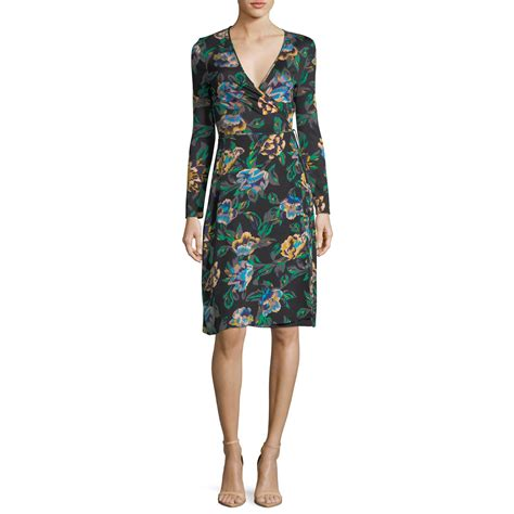 Diane Furstenberg The Wrap diane furstenberg benton floral sleeve wrap dress