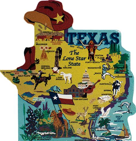 product map of texas state map texas the cat s meow