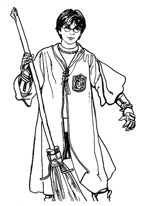 coloring page quidditch index of coloriage dessin harrypotter quidditch