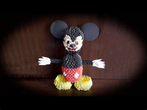 Origami Mickey Mouse - 132 best images about origami en 3d on see
