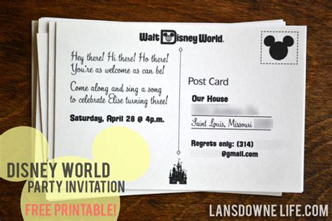 printable invitation to disney world free printable archives page 2 of 3 lansdowne life