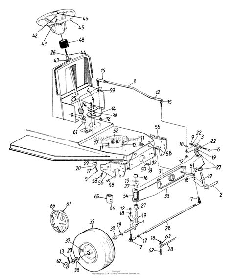 front wheel assembly diagram mtd 134h470f205 1994 parts diagram for steering assembly