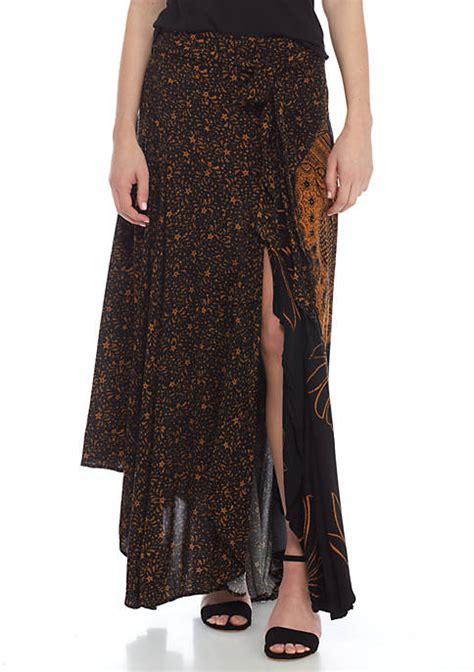 free mona printed maxi skirt belk