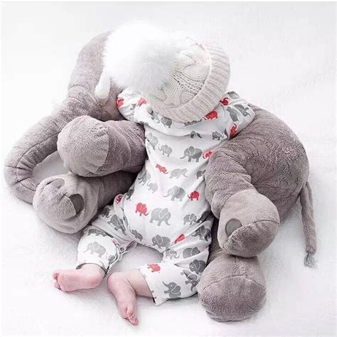 plush pillows 60cm baby soft plush elephant sleep pillow