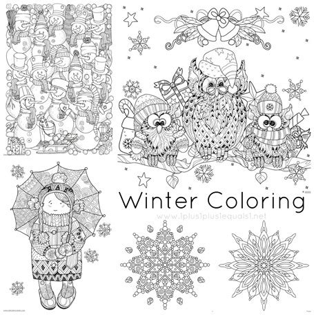 doodlebug winter winter doodle coloring pages 1 1 1 1