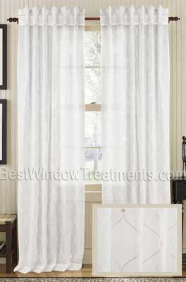 Star Embroidered Cotton Organdy Sheer Curtain Panel