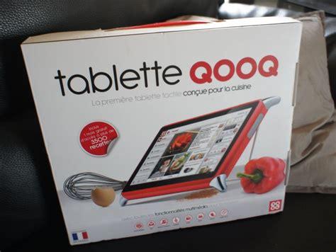 tablette pour la cuisine la tablette tactile pour cuisine qooq en test cook orico