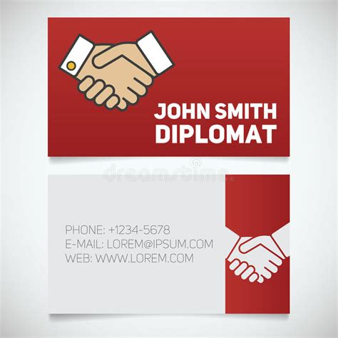 editing business card template in pages business card print template with handshake logo stock
