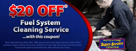 Fuel System Decarb Service Tires Coupons Auto Tire Service Center Assc