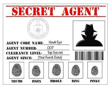 Detective Identification Card Template by Secret Badges Search 007