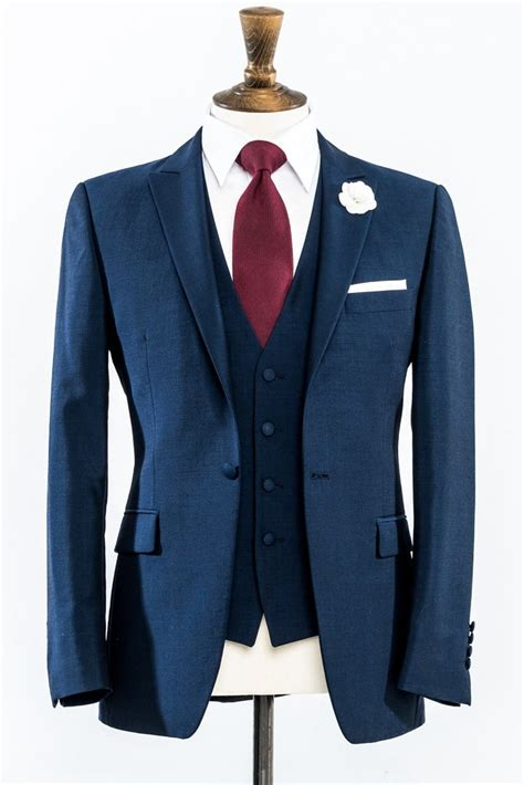 Jaspria Jas Exclusive Blue Navy azzurri blue slim fit wedding suit
