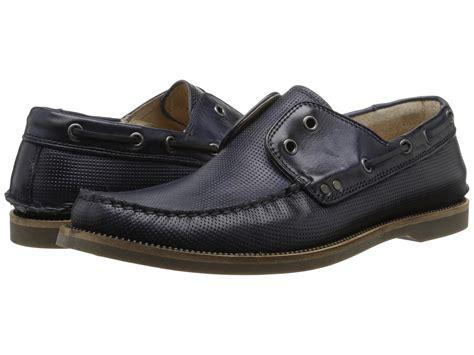 john varvatos boat shoes lyst john varvatos drifter boat shoe in blue for men