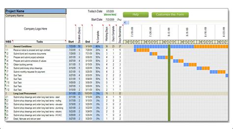 Construction Schedule Excel Template by Construction Schedule Templates 13 Free Word Excel