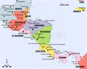 political map of central and south america map of central america central america political map