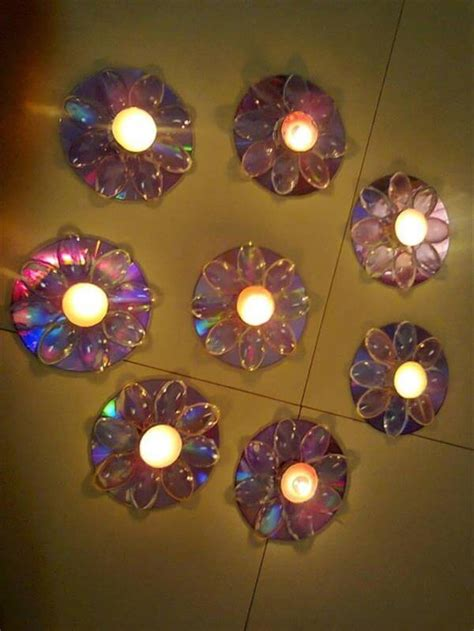 Diwali Home Decoration Lights Diy Globes And Lamp Projects With Old Cds Diy Recycled