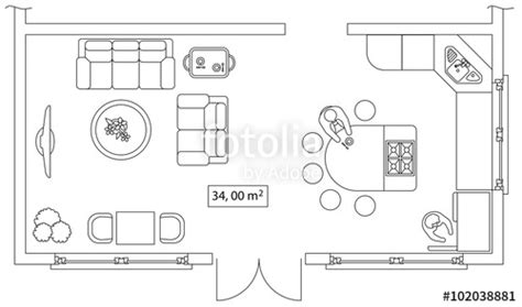 openoffice draw floor plan quot architectural set of furniture interiors elements for