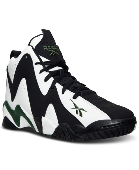 s reebok basketball shoes reebok s kamikaze ii mid basketball sneakers from