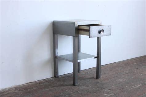 metal nightstand industrial metal nightstand at 1stdibs