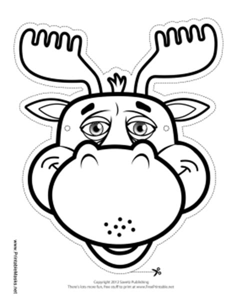 printable moose mask printable moose mask to color mask
