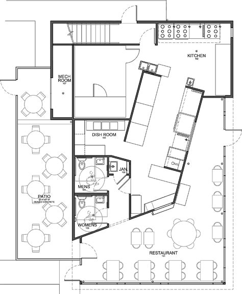 rest floor plan plan architecturale d un restaurant home design and