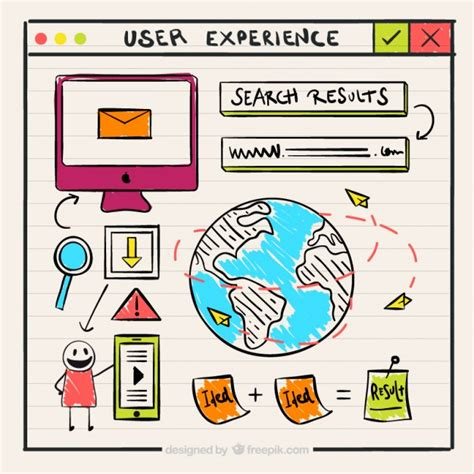 doodle users doodles user experience elements vector free