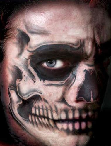 skeleton face tattoo skull temporary kit 1