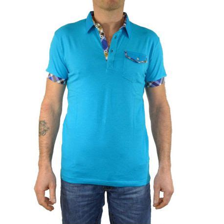 Kaos One Tony Copper polo manches courtes tony copper turquoise
