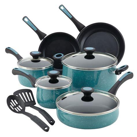 best kitchenware paula deen riverbend 12 piece gulf blue speckle cookware