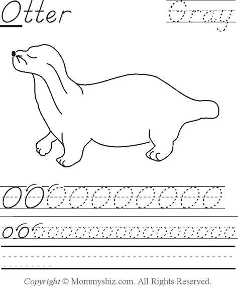 otter coloring pages preschool mommysbiz o otter gray preschool worksheet by danahaynes