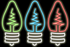 Neon L Invention by Here We Are The Electric Bulb