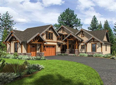 house pla mountain craftsman house plan with 3 upstairs bedrooms